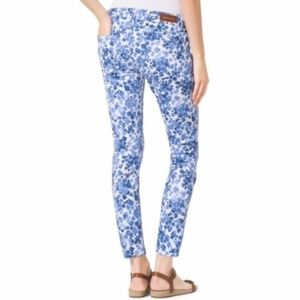 NWOT Michael Kors Izzy Cropped Skinny Floral Jeans
